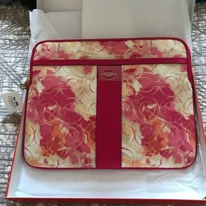 Coach pink floral iPad case new with tags